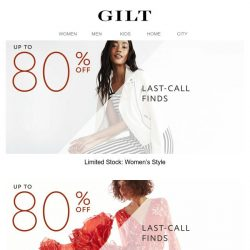 [Gilt] 🔋 Selling Out: Up to 80% Off Style & Dresses. Up to 60% Off Shoes & Accessories.