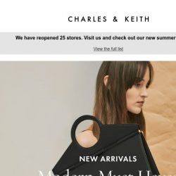 [Charles & Keith] Just In: Geometric Tote Bags
