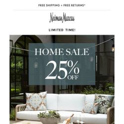 [Neiman Marcus] Home Sale! 25% off ends tomorrow