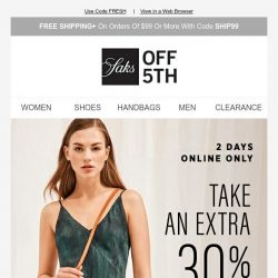 [Saks OFF 5th] Currently coveting: extra 30% OFF tie dye & much more