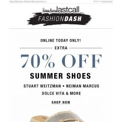 [Last Call] FASHION DASH: Up to 70% off shoes from your faves!