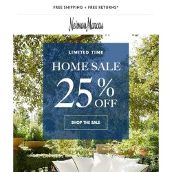 [Neiman Marcus] Don't miss: 25% updates for every room