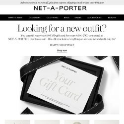 [NET-A-PORTER] You can still receive a gift card when you shop with us.