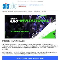 [SISTIC] The Largest Esports Tournament of the Year ends this Sunday!