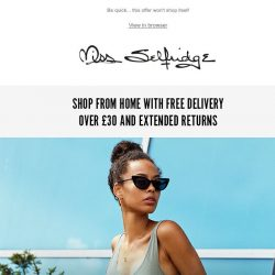 [Miss Selfridge] Up to 60% off ALL jeans and tops