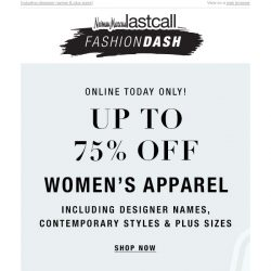 [Last Call] 24 HOURS ONLY! Up to 75% off women's apparel