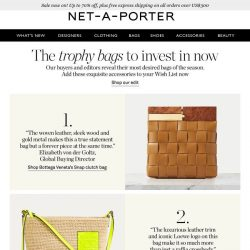 [NET-A-PORTER] The 3 bags to invest in now