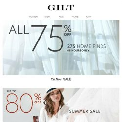 [Gilt] 🔑 75% Off Home. The 48-Hour SALE is open.