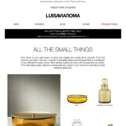 [LUISAVIAROMA] It's the little things that matter: Home décor