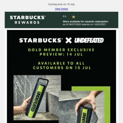 [Starbucks] Starbucks X Undefeated. Stay inspired with our latest collab