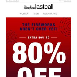 [Last Call] Extra 50% to 80% off casual cool, back-to-work looks & more