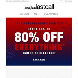 [Last Call] EXTRA 50%–80% off BEST SELLERS!
