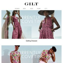 [Gilt] Good News: It's (finally) time to get dressed.