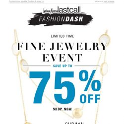 [Last Call] JEWELRY BLOWOUT! Up to 75% off
