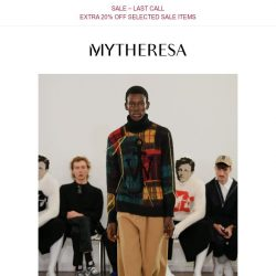 [mytheresa] New in: ami, Fendi and JW Anderson + last call for sale with extra 20% off
