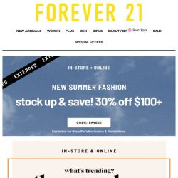 [FOREVER 21] 😝 this is such a cute email.