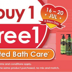 Guardian: Last Day to Enjoy Buy 1 Free 1 on Selected Bath Care!