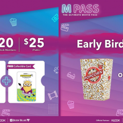 Golden Village: Grab Your M Pass Now at only $20 and Redeem Up to 4 Movie Tickets!