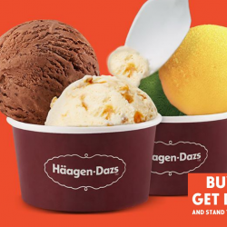 Häagen-Dazs: Enjoy 1-for-1 Double Scoop Ice Cream!