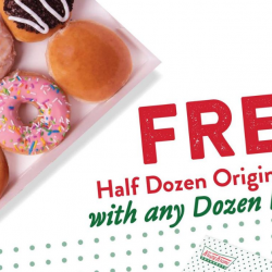 Krispy Kreme: Get a FREE Half Dozen Original Glazed with Any Purchase of Dozen Doughnuts!