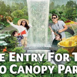 Jewel Changi Airport: Enjoy FREE Entry to Canopy Park for 2 People with Any Purchase!