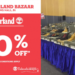 Takashimaya: Enjoy Up to 70% OFF Shoes & Accessories at the Timberland Bazaar!